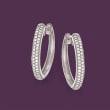 .34 ct. t.w. Diamond Hoop Earrings in Sterling Silver