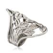 Openwork Leaf Vine Ring in Sterling Silver