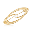 6.5mm Cultured Pearl Swirl Pin in 14kt Yellow Gold