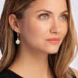12-13mm Cultured Pearl Drop Earrings in 14kt Yellow Gold