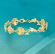18kt Gold Over Sterling Sea Life Link Bracelet