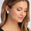 """Zina Sterling Silver """"Palm Springs"""" Small Clip-On Earrings"""