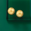 14kt Yellow Gold Domed Button Earrings