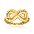 Italian 14kt Yellow Gold Infinity Ring