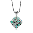 Opal Pendant Necklace in Sterling Silver