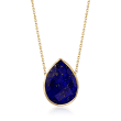 Lapis Necklace in 14kt Yellow Gold