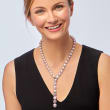 9-14.6mm Pink Cultured Pearl and 3.50 ct. t.w. Amethyst Necklace with 18kt White Gold