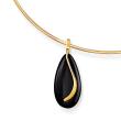 Black Onyx Teardrop Pendant in 14kt Yellow Gold