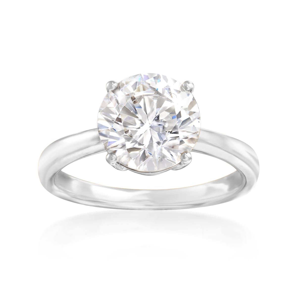 Rose Gold Over Sterling Silver CZ Brilliant Solitaire Engagement Ring 0.85-3ct