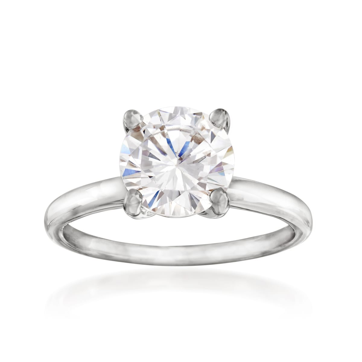 Details about  /14k Yellow OR White Gold Round Engagement CZ Ring Solitaire CZ Bow Tie Band Pave