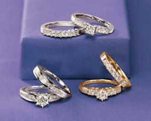 Match Engagement and Wedding Ring Metals and Shapes