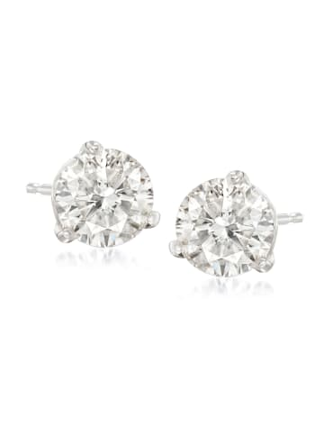 Round Diamond Stud Earrings Premier Collection