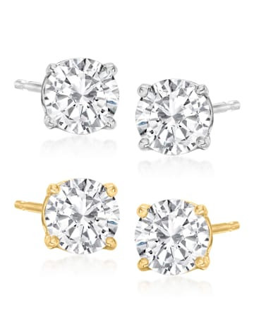 Round Diamond Stud Earrings RSVP Collection