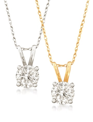 Round Diamond Pendants RSVP Collection