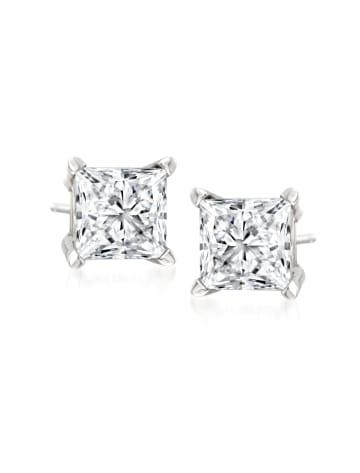 Princess-Cut Diamond Stud Earrings RSVP Collection