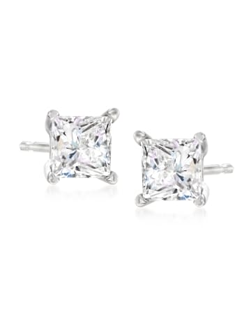 Princess-Cut Diamond Stud Earrings Classic Collection