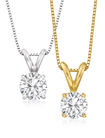 Round Diamond Pendants Classic Collection
