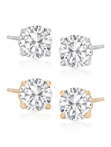 Round Diamond Stud Earrings Classic Collection