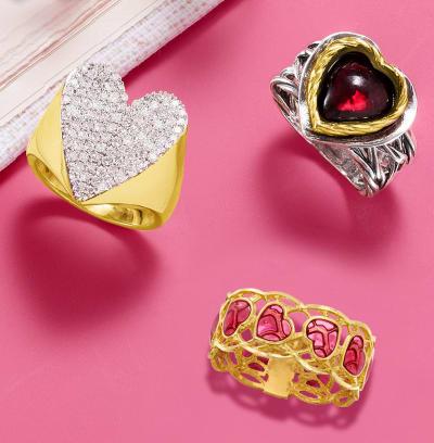 Three Heart-Style Rings