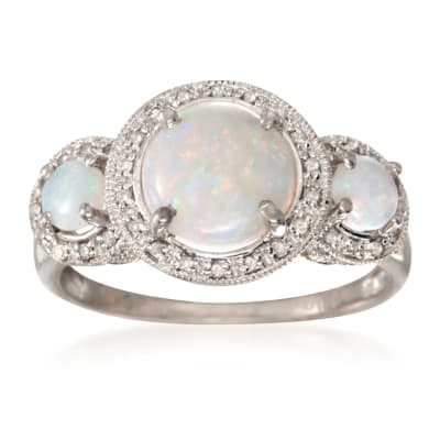 October Opal. Image Featuring Opal Ring