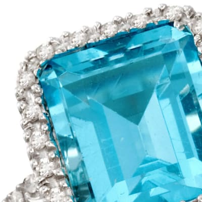 December - Blue Topaz. Image Featuring Blue Topax Ring