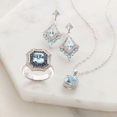 Something Blue. Image Featuring Blue Gemstone Jewelry