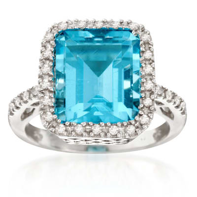 December Blue Topz. Image Featuring Blue Topaz Ring