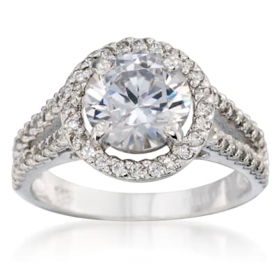 Halo Engagement Ring. Image Featuring Halo Engagement Ring