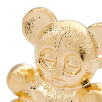 Gold Children's Jewelry. Image Featuring Gold Teddy Bear