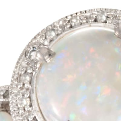 October - Opal. Image Featuring Opal Ring