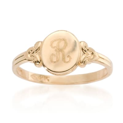 Children's Rings. Image Featuring Gold Ring