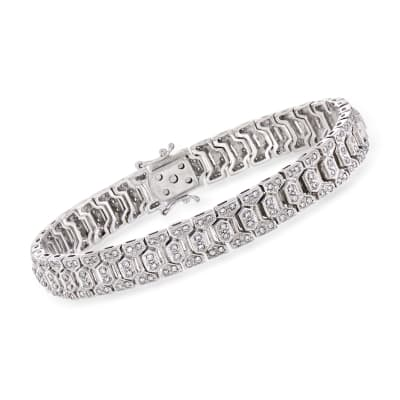 C. 1980 Vintage 1.00 ct. t.w. Diamond Link Bracelet in 18kt White Gold