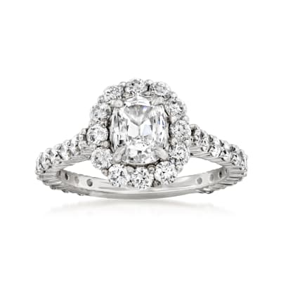 Henri Daussi 1.81 ct. t.w. Diamond Engagement Ring in 18kt White Gold