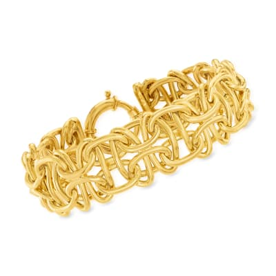 14kt Yellow Gold Interlocking-Link Bracelet