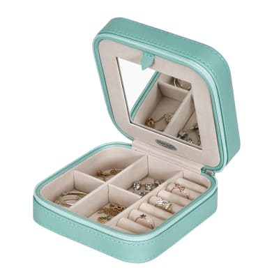 "Mele & Co. ""Josette"" Mint Faux Leather Travel Jewelry Case"