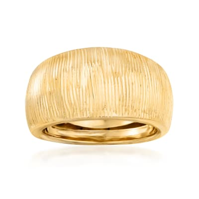 Italian 14kt Yellow Gold Dome Ring
