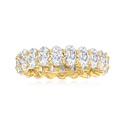 5.50 ct. t.w. CZ Eternity Ring in 18kt Gold Over Sterling