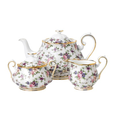 "Royal Albert ""100 Years: 1940 English Chintz"" 3-pc. Tea Set"