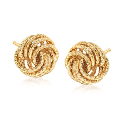 Italian Love Knot Earrings in 18kt Yellow Gold