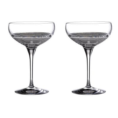 "Waterford Crystal ""Mixology Circon"" Set of 2 Large Coupe Glasses"