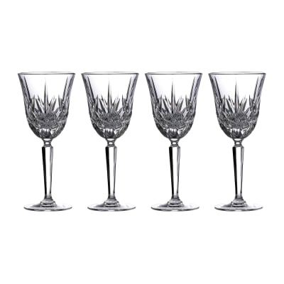 "Marquis by Waterford Crystal ""Maxwell"" Set of 4 White Wine Glasses from Italy"