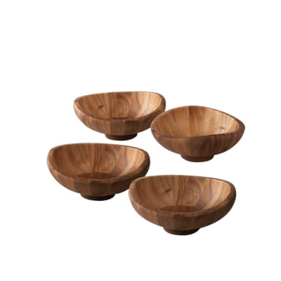"Nambe ""Butterfly"" Set of 4 Salad Bowls"