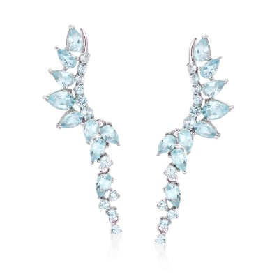 4.60 ct. t.w. Sky Blue Topaz Earrings in Sterling Silver