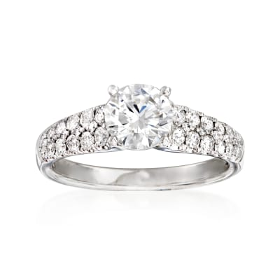 Simon G. .48 ct. t.w. Diamond Engagement Ring in 18kt White Gold