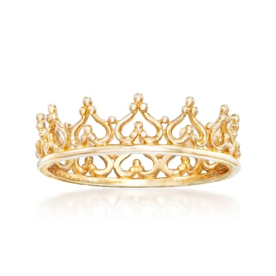 14kt Yellow Gold Royal Crown Ring