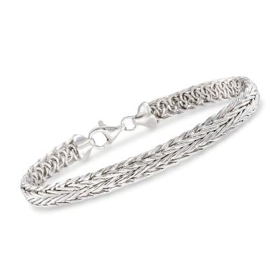 Sterling Silver Medium Wheat Chain Bracelet