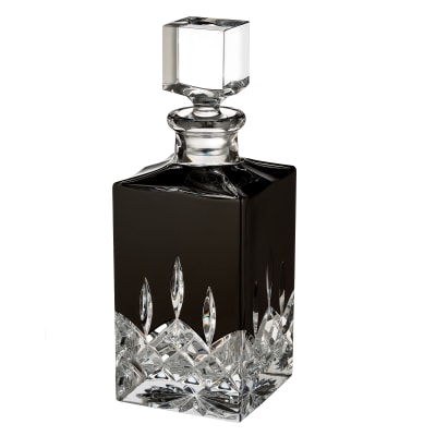 """Waterford Crystal """"Black"""" Lismore Square Decanter"""