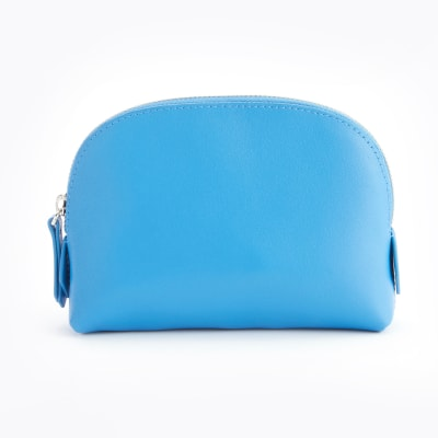 Royce Light Blue Leather Cosmetic Case