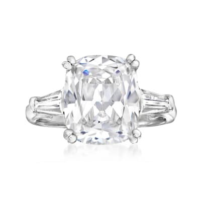 7.00 ct. t.w. CZ Ring in Sterling Silver