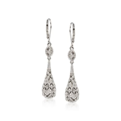 .20 ct. t.w. Diamond Teardrop Earrings in Sterling Silver